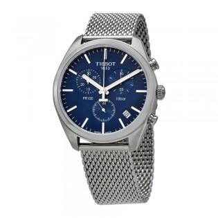 [Official Warranty] Tissot T101.417.11.041.00 Men's PR 100 Chronograph Quartz Blue Dial Stainless Steel Strap Watch (watch for men / jam tangan lelaki / tissot watch for men / tissot watch / men watch)
