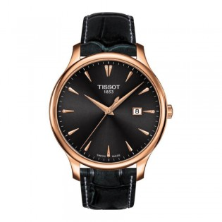 [Official Warranty] Tissot T063.610.36.086.00 Women's Tradition Analog Quartz Black Dial black Leather Strap Watch (watch for women / jam tangan perumpuan / tissot watch for women / tissot watch / women watch)