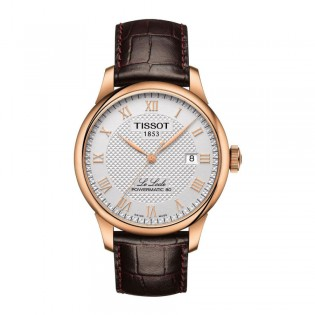 [Official Warranty] Tissot T006.407.36.033.00 Men's Le Locle Analog Automatic Silver Dial Leather Strap Watch (watch for men / jam tangan lelaki / tissot watch for men / tissot watch / men watch)