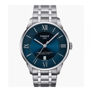 [Official Warranty] Tissot T099.407.11.048.00 Men's Chemin Des Tourelles Analog Automatic Blue Dial Stainless Steel Strap Watch (watch for men / jam tangan lelaki / tissot watch for men / tissot watch / men watch)