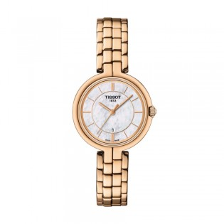 [Official Warranty] Tissot T094.210.33.111.01 Women's Flamingo Analog Quartz White Mother of Pearl Dial Rose Gold Stainless Steel Strap Watch (watch for women / jam tangan perumpuan / tissot watch for women / tissot watch / women watch)