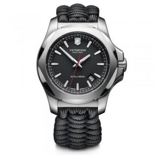 [Official Warranty] Victorinox Swiss Army 241726.1 Men's I.N.O.X Analog Quartz Black Dial Black Paracord Fabric Strap Watch (watch for men / jam tangan lelaki / victorinox swiss army watch for men / victorinox swiss army watch / men watch)