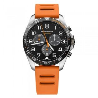 [Official Warranty] Victorinox Swiss Army 241893 Men's Fieldforce Sport Chronograph Quartz Black Dial Orange Rubber Strap Watch (watch for men / jam tangan lelaki / victorinox swiss army watch for men / victorinox swiss army watch / men watch)
