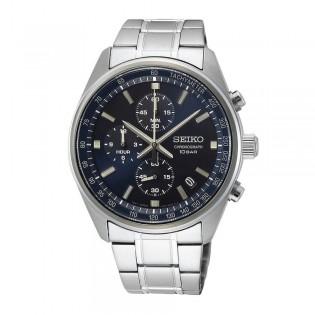 [Official Warranty] Seiko SSB377P1 Men's Chronograph Quartz Blue Dial Silver Stainless Steel Strap Watch (watch for men / jam tangan lelaki / seiko watch for men  / men watch)