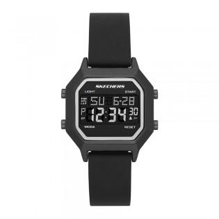[100% Original] Skechers SR6194 Men's Digital Quartz Black Silicone Strap Watch