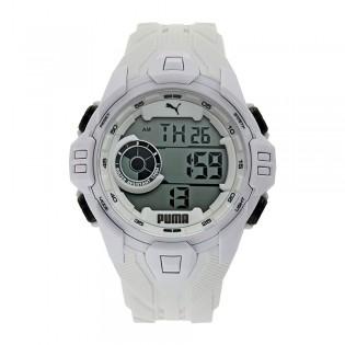 [Official Warranty] Puma P5039 Mens Bold LCD White Polyurethane Watch (watch for men / jam tangan lelaki / puma watch for men  / men watch)