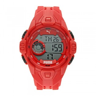 [Official Warranty] Puma P5040 Mens Bold LCD Red Polyurethane Watch (watch for men / jam tangan lelaki / puma watch for men  / men watch)