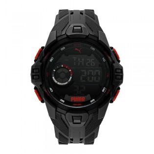 [Official Warranty] Puma P5042 Mens Bold LCD Black Polyurethane Watch (watch for men / jam tangan lelaki / puma watch for men  / men watch)