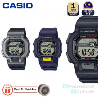 CASIO W-737H W-737H-1A W-737H-1A2 W-737H-2A 100% ORIGINAL MAN General Black Resin Band Youth WATCH JAM ORI CASIO JAM CASIO LELAKI CASIO ORI