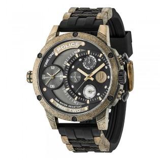[Official Warranty] Police PL14536JSQG/AM Men's Police Adder Multifunction Black Plastic Strap Watch (watch for men / jam tangan lelaki / police watch for men / police watch / men watch)