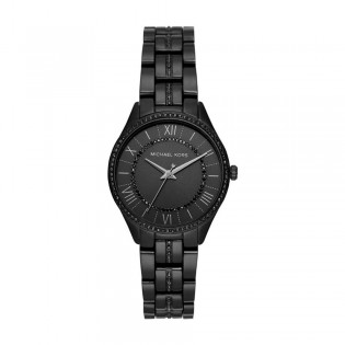 [Official Warranty] Michael Kors MK4337 Women's Mini Lauryn Three-Hand Black Stainless Steel Watch (watch for women / jam tangan perumpuan / michael kors watch for women / mk watch / women watch)
