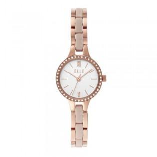 [Official Warranty] Elle ELL21040 Women's Alesia Rose Gold Stainless Steel Strap Watch  (watch for women / jam tangan perumpuan / elle watch for women / elle watch / women watch)