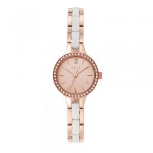 [Official Warranty] Elle ELL21038 Women's Alesia Stainless-Steel Rose-Gold Watch (watch for women / jam tangan perumpuan / elle watch for women / elle watch / women watch)