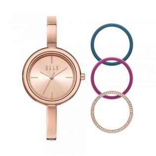 [Official Warranty] Elle ELL27004 Women's Ternes Rose Gold Stainless-Steel Watch (watch for women / jam tangan perumpuan / elle watch for women / elle watch / women watch)