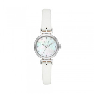 [Official Warranty] Elle ELL21037 Women's Odeon White Leather Strap Watch (watch for women / jam tangan perumpuan / elle watch for women / elle watch / women watch)
