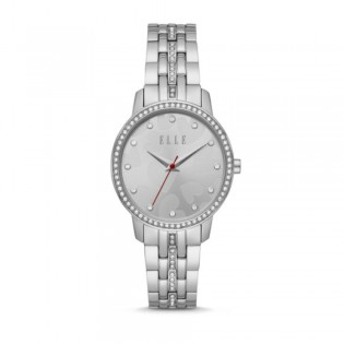 [Official Warranty] Elle ELL21027 Women's Lena Three-Hand Stainless Steel Watch (watch for women / jam tangan perumpuan / elle watch for women / elle watch / women watch)