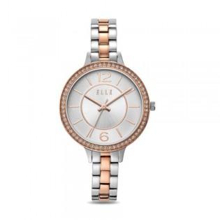 [Official Warranty] Elle ELL25018 Women's Opera Silver Tow-Tone Stainless Steel Strap Watch (watch for women / jam tangan perumpuan / elle watch for women / elle watch / women watch)