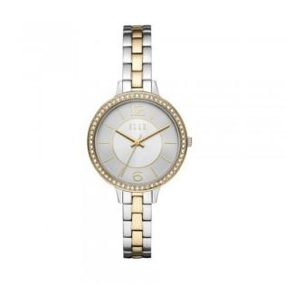[Official Warranty] Elle ELL25017 Women's Opera Silver Gold Tow-Tone Stainless Steel Strap Watch (watch for women / jam tangan perumpuan / elle watch for women / elle watch / women watch)