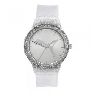 [Official Warranty] Puma P1003 Women's  Reset V2 Three-Hand Silver Polyurethane Watch (watch for women / jam tangan perumpuan / puma watch for women  / women watch)
