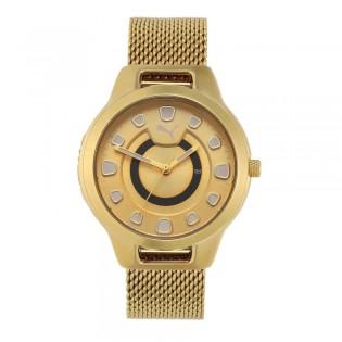 [Official Warranty] Puma P1008 Women's Reset V1 Three-Hand Date Gold-Tone Stainless Steel Watch (watch for women / jam tangan perumpuan / puma watch for women  / women watch)