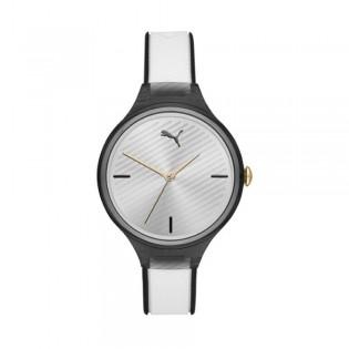 [Official Warranty] Puma P1019 Women's Contour Three-Hand White Polyurethane Watch (watch for women / jam tangan perumpuan / puma watch for women  / women watch)