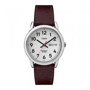[100% Original] Timex T20041 Men's Easy Reader Brown Leather Strap Watch (watch for men / jam tangan lelaki / timex watch for men / timex watch / men watch)