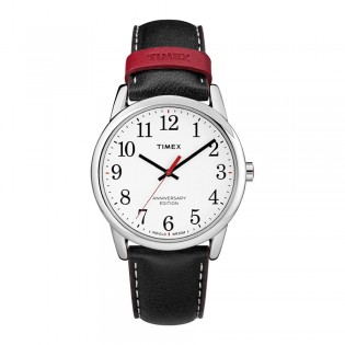 [100% Original] Timex TW2R40000 Men's Easy Reader 40th Anniversary Black Leather Watch (watch for men / jam tangan lelaki / timex watch for men / timex watch / men watch)