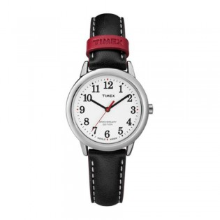 [100% Original] Timex TW2R40200 Women's Easy Reader 40th Anniversary Black Leather Watch (watch for women / jam tangan perumpuan / timex watch for women / timex watch / women watch)