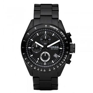 Fossil CH2601 Men's Decker Chronograph Black Steel Watch