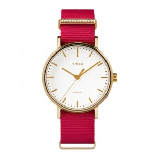 [100% Original] Timex TW2R48600 Women's Fairfield Crystal Fabric Strap Watch (watch for women / jam tangan perumpuan / timex watch for women / timex watch / women watch)
