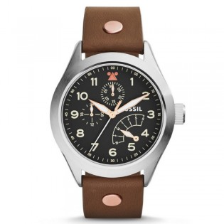 Fossil CH2939 Men's Aeroflite Multifunction Brown Leather Watch