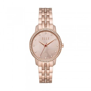 [Official Warranty] Elle ELL21026 Women's Lena Three-Hand Rose Gold-Tone Stainless Steel Watch (watch for women / jam tangan perumpuan / elle watch for women / elle watch / women watch)