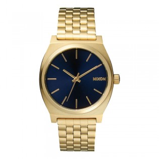 [Official Warranty] Nixon A0451931 Men's Time Teller Blue Dial Gold Stainless Steel Strap Watch (watch for men / jam tangan lelaki / nixon watch for men  / men watch)