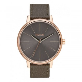 [Official Warranty] Nixon A1082214 Women's Kensington Quartz Beige Dial Leather Strap Watch (watch for women / jam tangan perumpuan / nixon watch for women  / women watch)