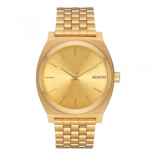 [Official Warranty] Nixon A045511 Unisex's Time Teller All Gold Stainless Steel Strap Watch (watch for unisex / jam tangan unisex / nixon watch for unisex  / unisex watch)