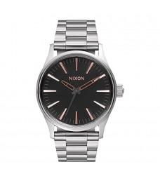 [Official Warranty] Nixon A4502064 Men's Sentry Steel Quartz BlackDial Stainless Steel Strap Watch (watch for men / jam tangan lelaki / nixon watch for men  / men watch)