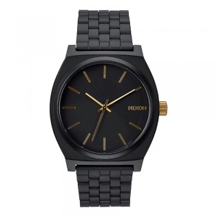[Official Warranty] Nixon A0451041 Men's Analog Quartz Time Teller Black Dial Stainless Steel Strap Watch (watch for men / jam tangan lelaki / nixon watch for men  / men watch)