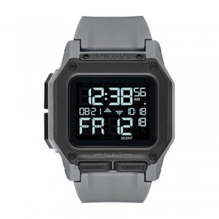 [Official Warranty] Nixon A1180632 Men's Regulus All Gunmetal Grey Digital 46mm PU Strap Watch (watch for men / jam tangan lelaki / nixon watch for men  / men watch)