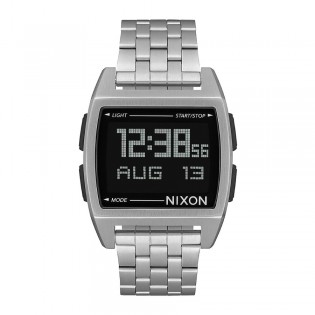[Official Warranty] Nixon A1107000 Men's Base Digital Silver Stainless Steel Strap Watch (watch for men / jam tangan lelaki / nixon watch for men  / men watch)