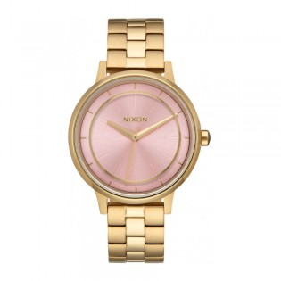 [Official Warranty] Nixon A0992360 Women's Kensington Quartz Pink Dial Light Gold Stainless Strap Watch (watch for women / jam tangan perumpuan / nixon watch for women  / women watch)