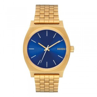 [Official Warranty] Nixon A0452735 Unisex's Time Teller Blue Dial Stainless Strap Watch (watch for unisex / jam tangan unisex / nixon watch for unisex  / unisex watch)