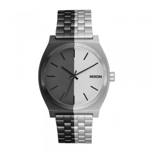 [Official Warranty] Nixon A0453238 Unisex's Time Teller Split Analig Quartz Two-Tone Stainless Strap Watch (watch for unisex / jam tangan unisex / nixon watch for unisex  / unisex watch)
