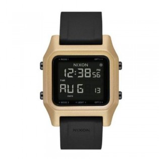 [Official Warranty] Nixon A1282010 Men's Staple Black / Gold 38mm Silicone Strap Watch (watch for men / jam tangan lelaki / nixon watch for men  / men watch)