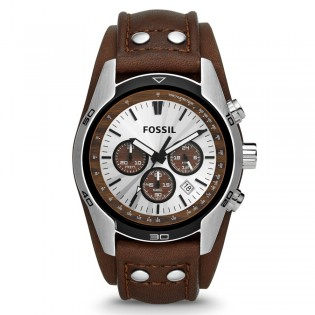 Fossil CH2565 Men's Coachman Chronograph Brown Leather Watch