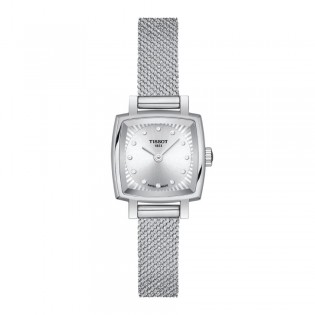 [Official Warranty] Tissot T058.109.11.036.00 Lovely Square Silver Dial Stainless Steel Strap Watch (watch for women / jam tangan perumpuan / tissot watch for women / tissot watch / women watch)