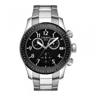 [Official Warranty] Tissot T039.417.21.057.00 Men's T-Sport V8 Chronograph Black Dial Stainless Steel Strap Watch (watch for men / jam tangan lelaki / tissot watch for men / tissot watch / men watch)