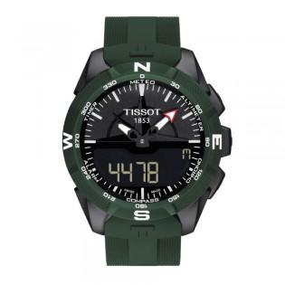 [Official Warranty] Tissot T110.420.47.051.00 Men's T-Touch Expert Solar II Green Silicone Strap Watch (watch for men / jam tangan lelaki / tissot watch for men / tissot watch / men watch)
