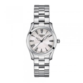[Official Warranty] Tissot T112.210.11.113.00 Women's T-Wave Mother of Pearl Dial Stainless Steel Strap Watch (watch for women / jam tangan perumpuan / tissot watch for women / tissot watch / women watch)