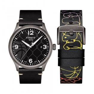 [Official Warranty] Tissot T116.410.36.067.00 Men's Special Edition Gent XL 3X3 Street Basketball Black Leather Strap Watch (watch for men / jam tangan lelaki / tissot watch for men / tissot watch / men watch)