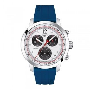 [Official Warranty] Tissot T114.417.17.037.00 Men's PRC 200IIHF 2020 Special Eddition Blue Silicone Strap Watch (watch for men / jam tangan lelaki / tissot watch for men / tissot watch / men watch)